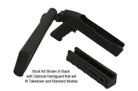 Stock Kit Shown In Black  with Optional Handguard that will fit Takedown and Standard Models