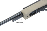 Billet T-Block Mounted to Standard 10/22