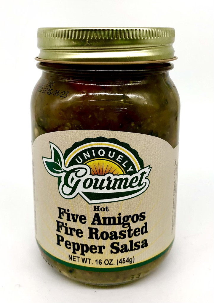 Five Amigos Fire Roasted Salsa - Uniquely Gourmet