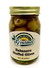 Habanero Stuffed Olives - Uniquely Gourmet