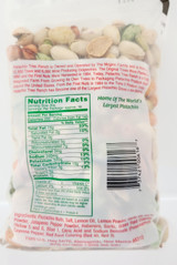 Nutritional information.
