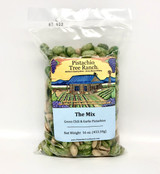 The Mix: Green Chili and Garlic In-Shell Pistachios 16 oz. Poly Bag