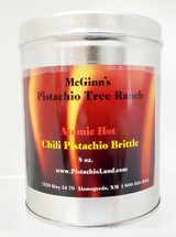 "Atomic Hot Chili Pistachio Brittle ""Award Winner"" 8 oz Can"