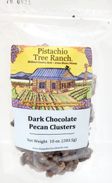 "Pecan Dark Chocolate Clusters ""Yum!"" 10 oz-poly zip bag"