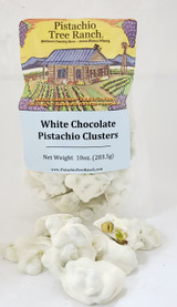 White Chocolate Pistachio Clusters.