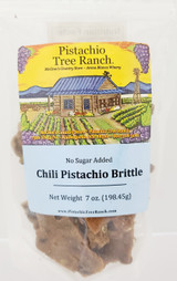 No sugar added atomic hot chili pistachio brittle. Note: pistachios contain natural sugars.