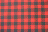 Red and black plaid.