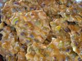Pistachio Brittle made on the farm by hand every day. It's the BEST brittle you will find!
