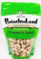 Our roasted and salted in-shell pistachios.  Note: bag designs vary as we transition to new bag styles.