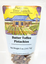 Butter Toffee Glazed Pistachios 5oz. zip bag