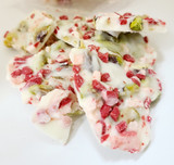 What makes our pistachio farm unique? We make our own confections...like this delicious chocolate with peppermint and pistachios.