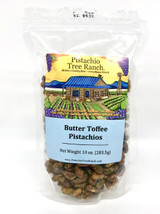 Butter Toffee Glazed Pistachios 10 oz. zip bag