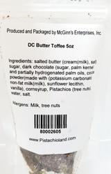 Dark Chocolate Pistachio Butter Toffee 5oz.bag