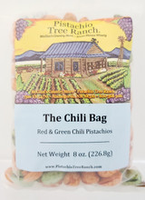 A mix in one bag of both red chili and green chili in-shell pistachios!
