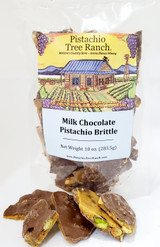 Milk Chocolate Covered Pistachio Brittle: The Ultimate Brittle surrounded in milk chocolate.
