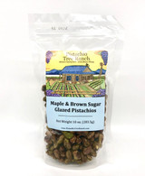 Maple and Brown Sugar Glazed Pistachios 10 oz. Zip bag
