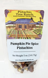 5 oz. of glazed pistachio kernels with delectable pumpkin pie spices like ginger, allspice, cloves, cinnamon....