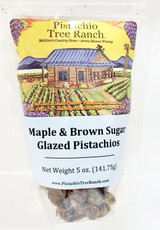 Maple and Brown Sugar Glazed Pistachios 5 oz. bag