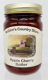Apple Cherry Butter with fresh cookies apples, and red tart cherries.