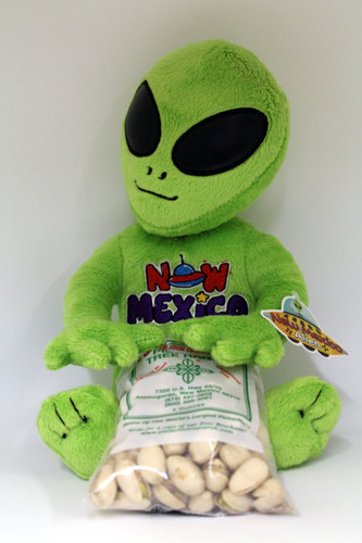 Plush New Mexico Alien- pick your pistachios OR candy.