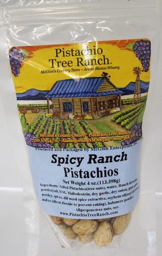 Spicy Ranch In Shell Pistachios 4 oz Poly Bag
