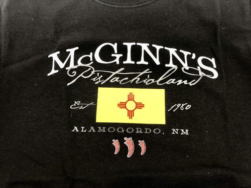 McGinn's PistachioLand Black T Shirt