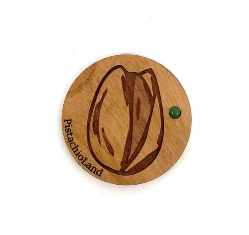 PistachioLand Wooden Magnet