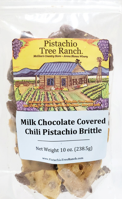 As if it wasn't good enough already! Our hand-crafted award-winning Atomic Hot Chili Pistachio Brittle surrounded by milk chocolate. Amazing!
