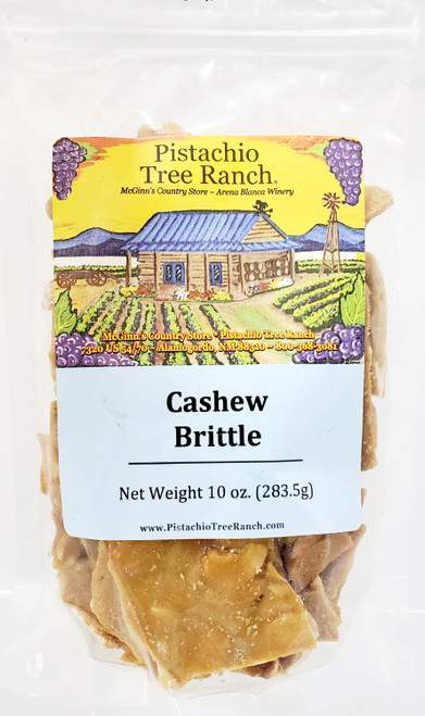 Cashew Brittle. Buttery and crunchy.