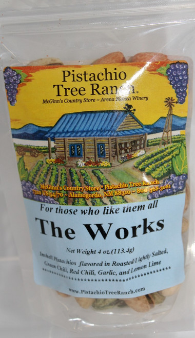 The Works In-Shell Pistachios 4 oz. Poly Bag