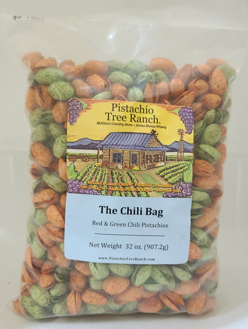 Spicy HOT! Our red chili (of the habanero and cayenne variety), and green chili (the jalapeno and habanero variety) mixed together in one 2 lb. bag.
