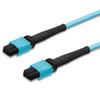 2 MTP female connectors, aqua