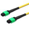 2 MTP female connectors, green