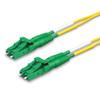 2 LC Duplex connectors, green
