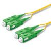 2 SC Duplex connectors, green