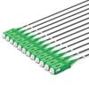 12 SC Simplex connectors, labelled, green