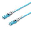 2 CS® Duplex connectors, aqua