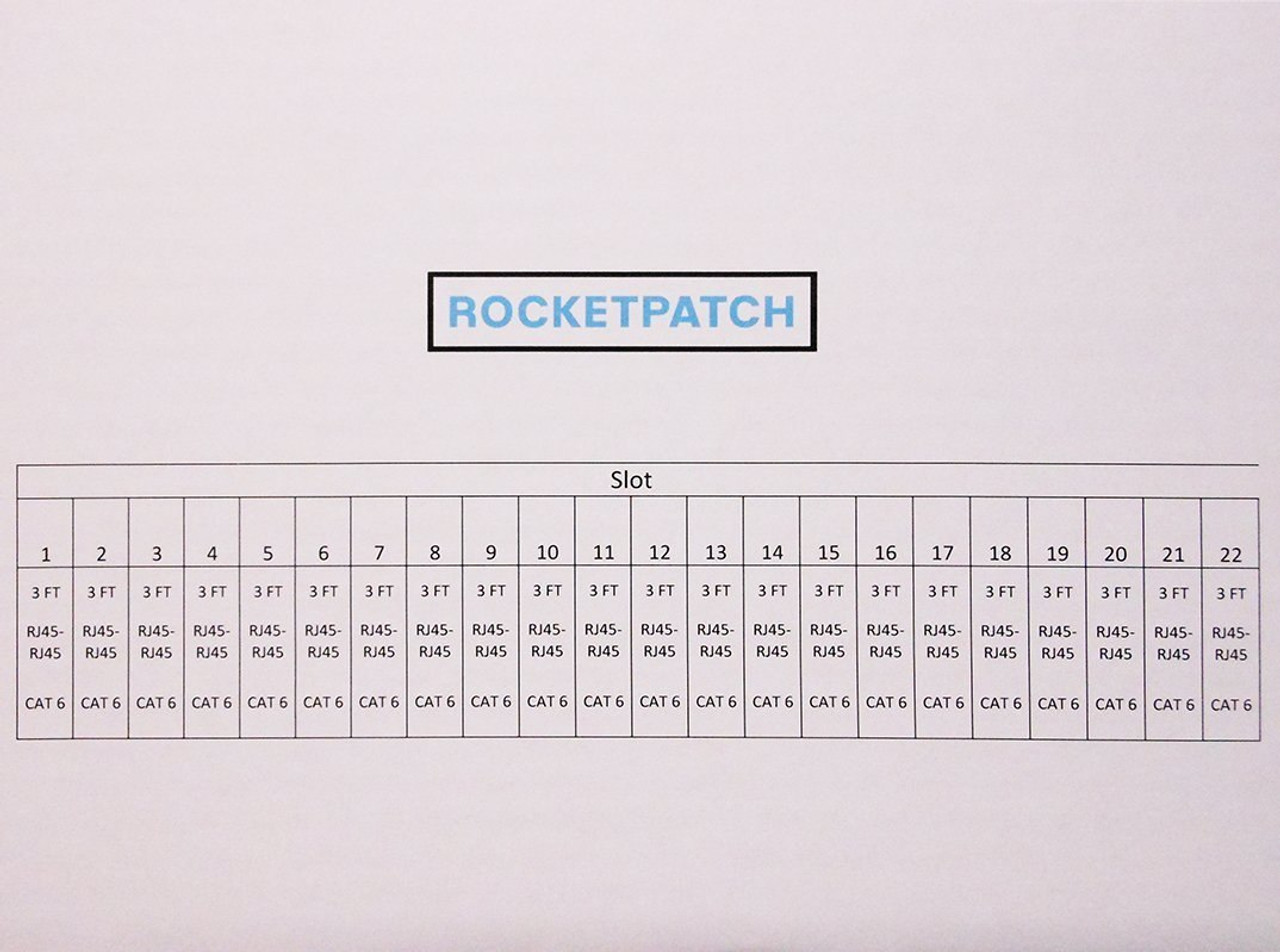 Rocketpatch 22 Pack, Cat 6 Snagless (UTP) Patch Cables Made in the USA