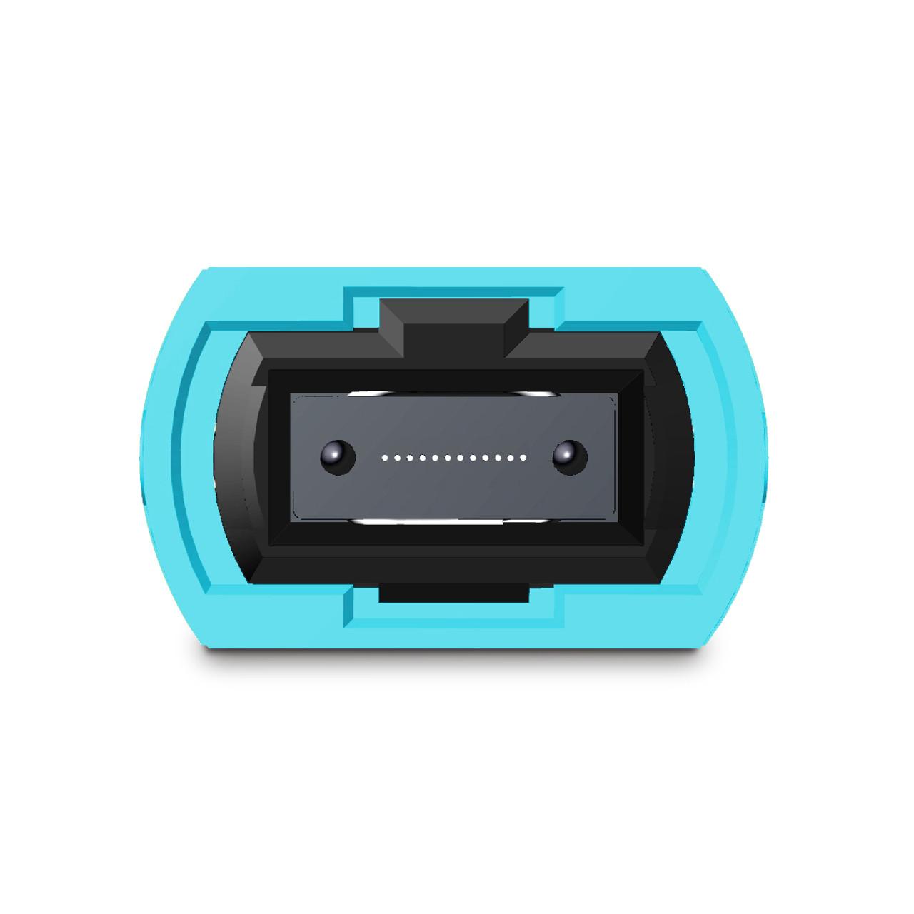 12 fiber MTP connector, aqua