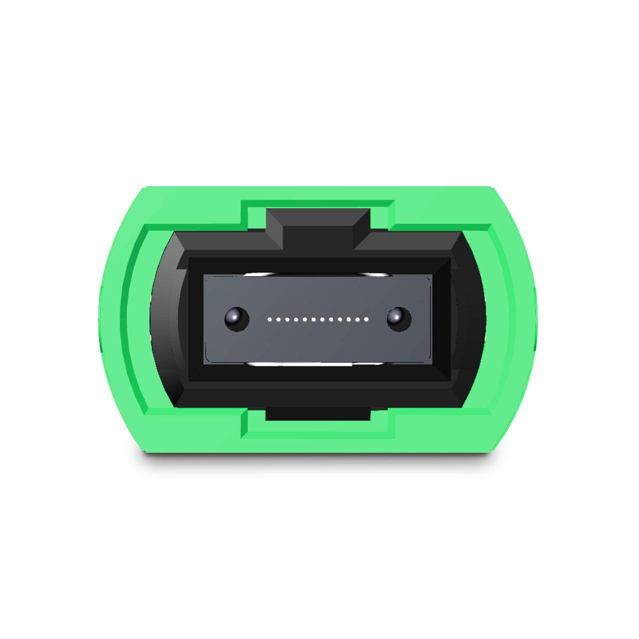 12 fiber MTP connector, green