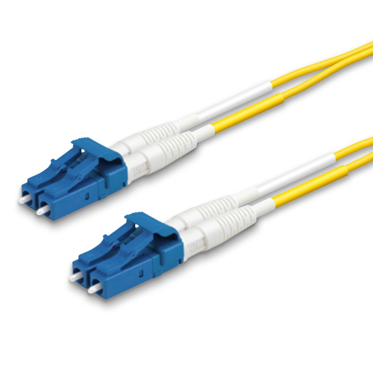 2 LC Duplex connectors, blue