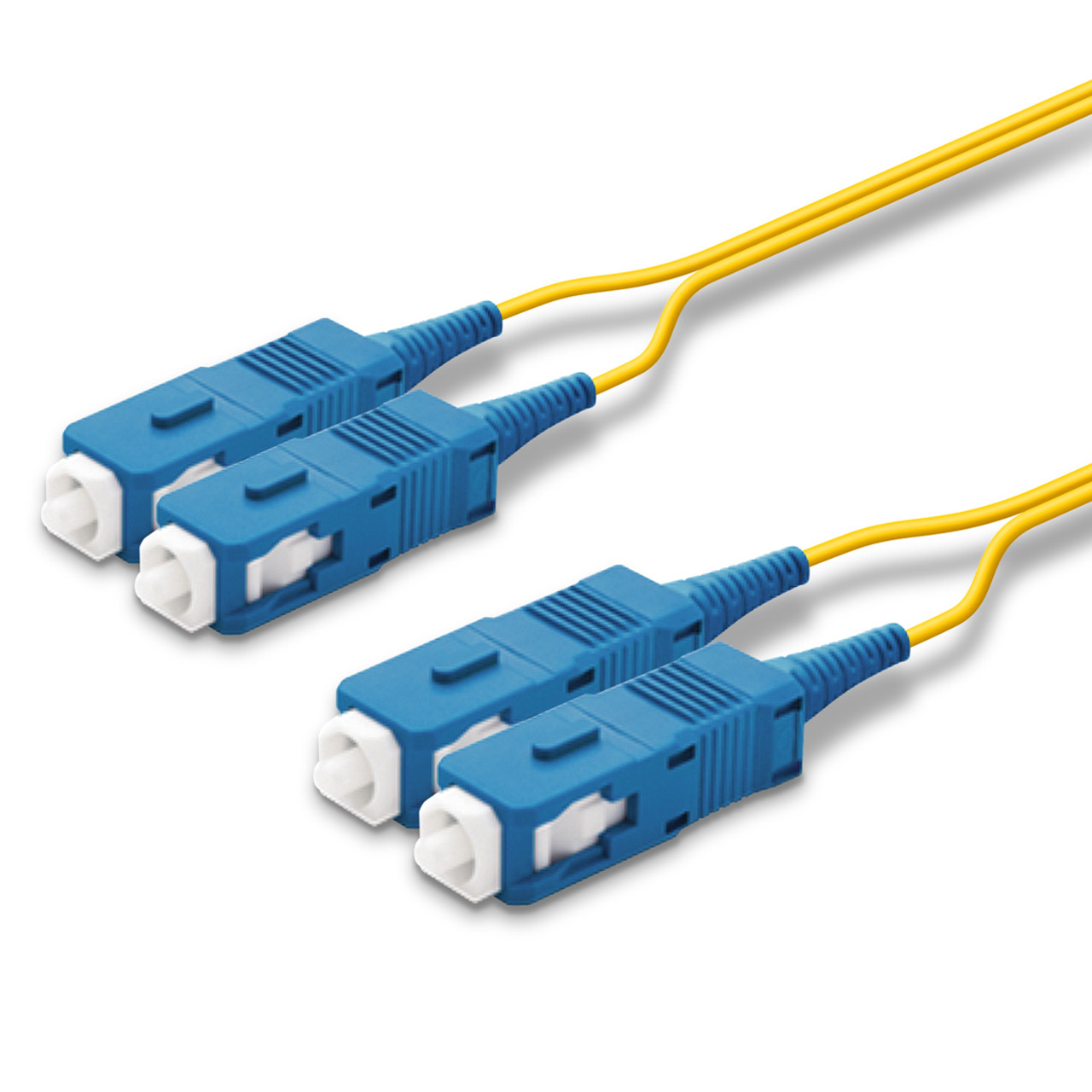 2 SC Duplex connectors, blue