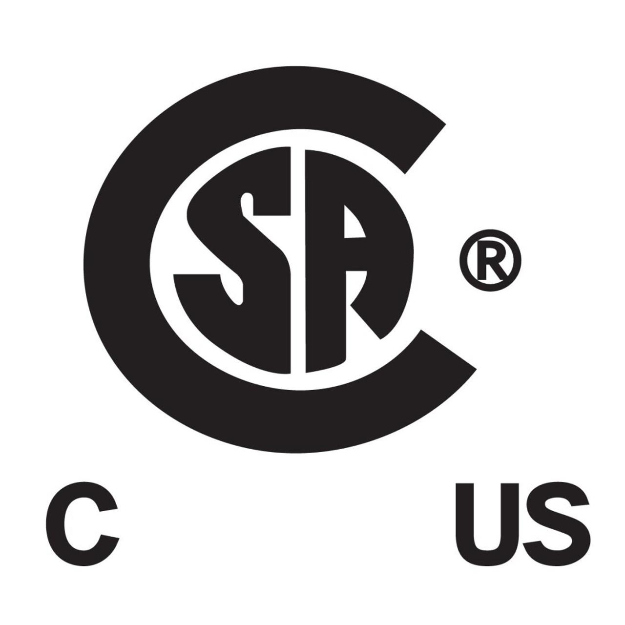 CSA Certified: LR-31415