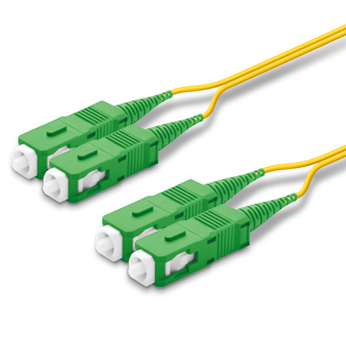 2 SC Duplex connectors, green