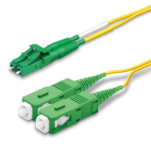 LC, SC Duplex connectors, green
