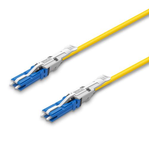 2 CS® Duplex connectors, blue