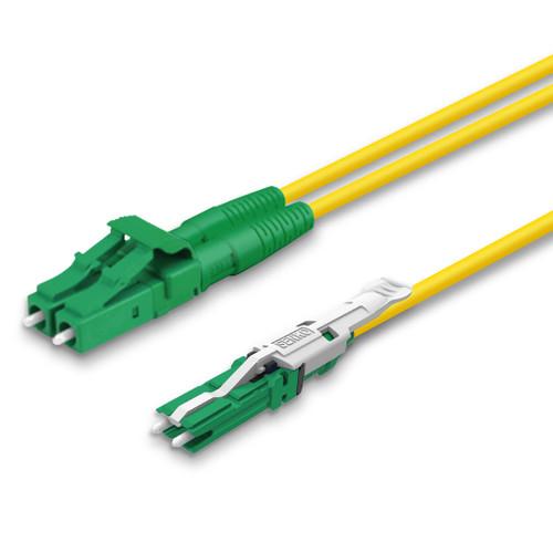 LC, CS® Duplex connectors, green