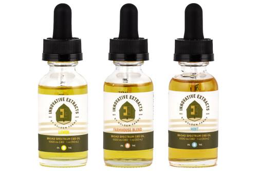 Three THC-Free Tinctures