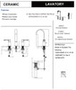 Designers Impressions 655724 Oil Rubbed Bronze Lavatory Widespread Vanity Faucet