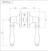 Designers Impressions Villa Design Polished Chrome Privacy Door Lever: 88-5966